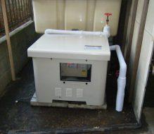 受水槽、加圧ポンプ交換